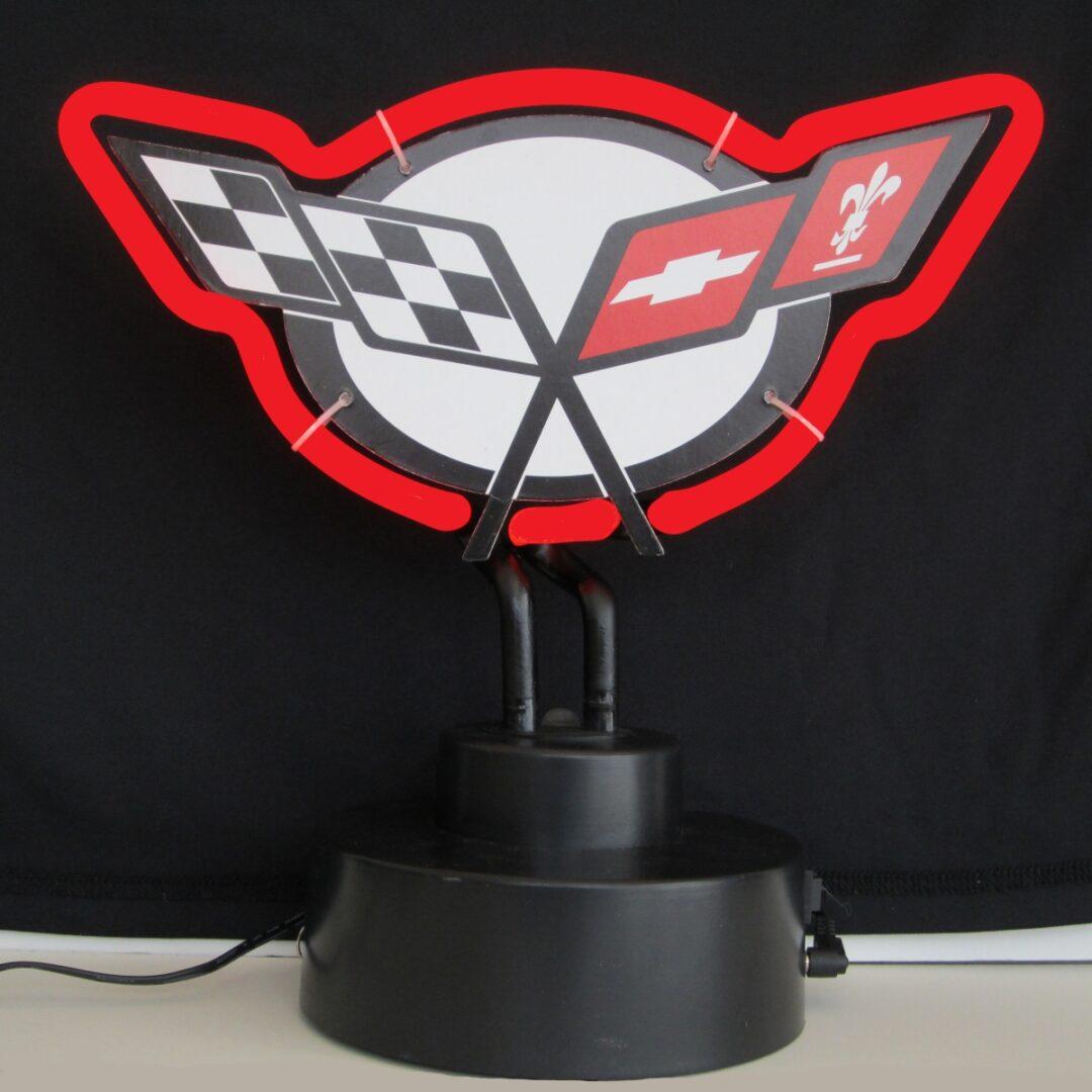 Corvette Neon Tabletop Sign