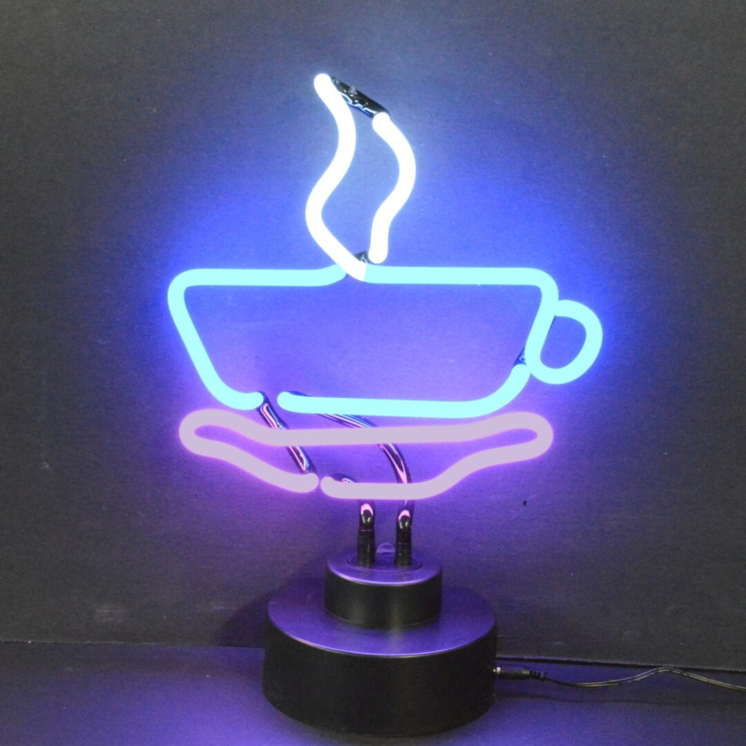 Coffee Cup Neon Tabletop Sign