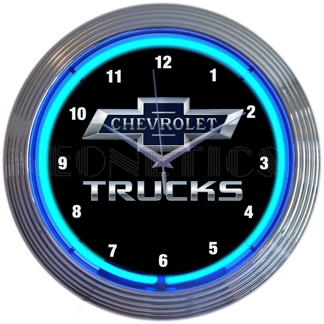 Chevrolet Trucks Neon Clock