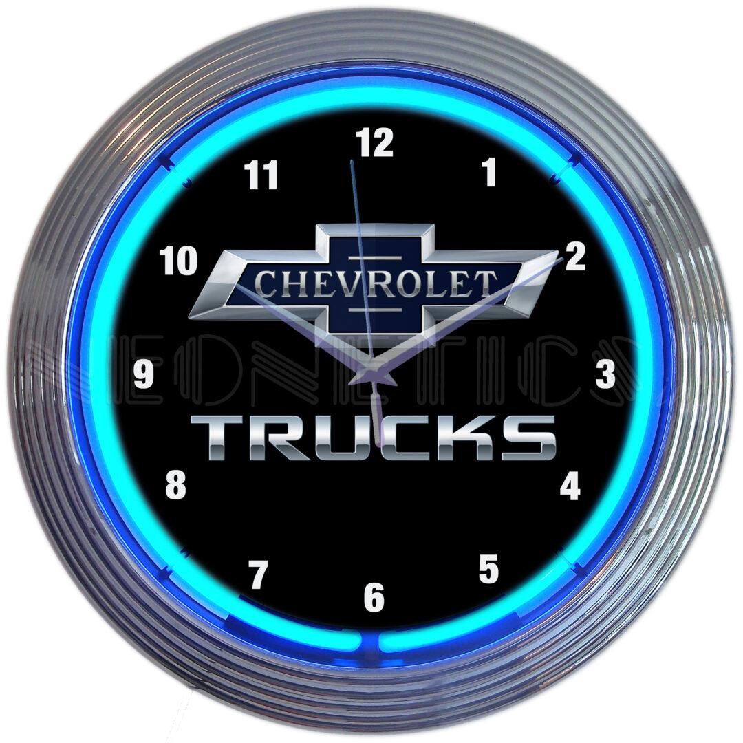 Chevrolet Trucks Neon Clock