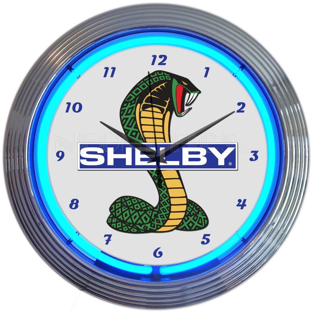 Shelby Cobra Ford Neon Clock