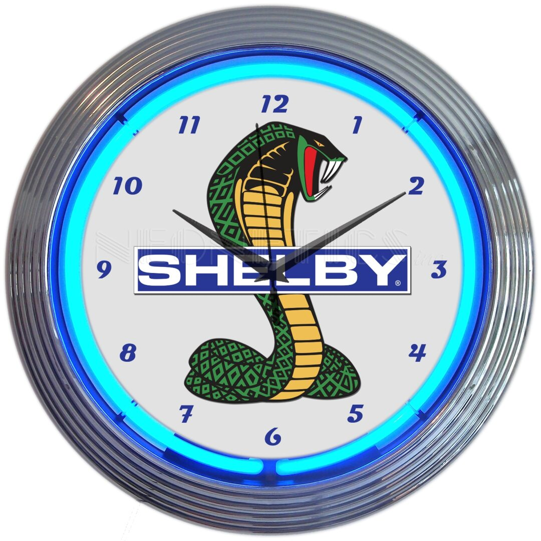 Shelby Cobra Ford Neon Clock
