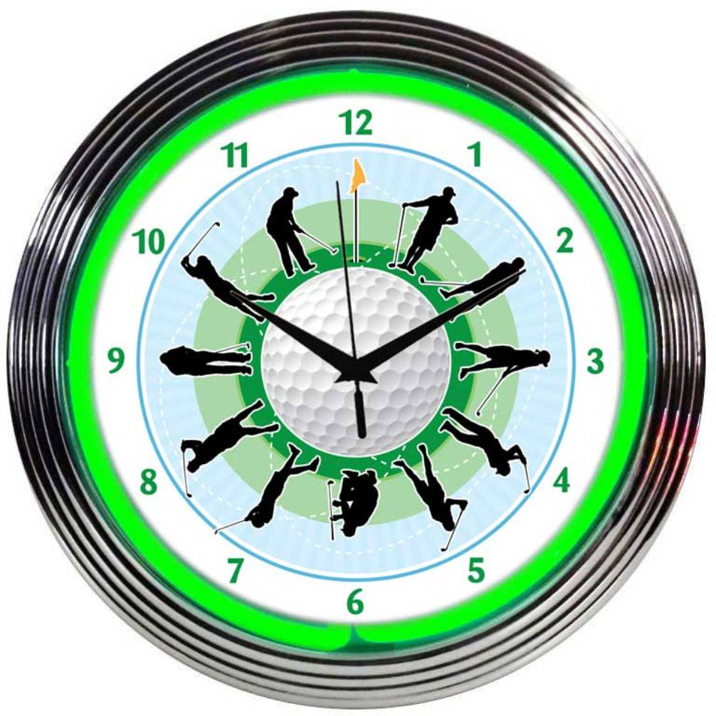 Golf Neon Clock