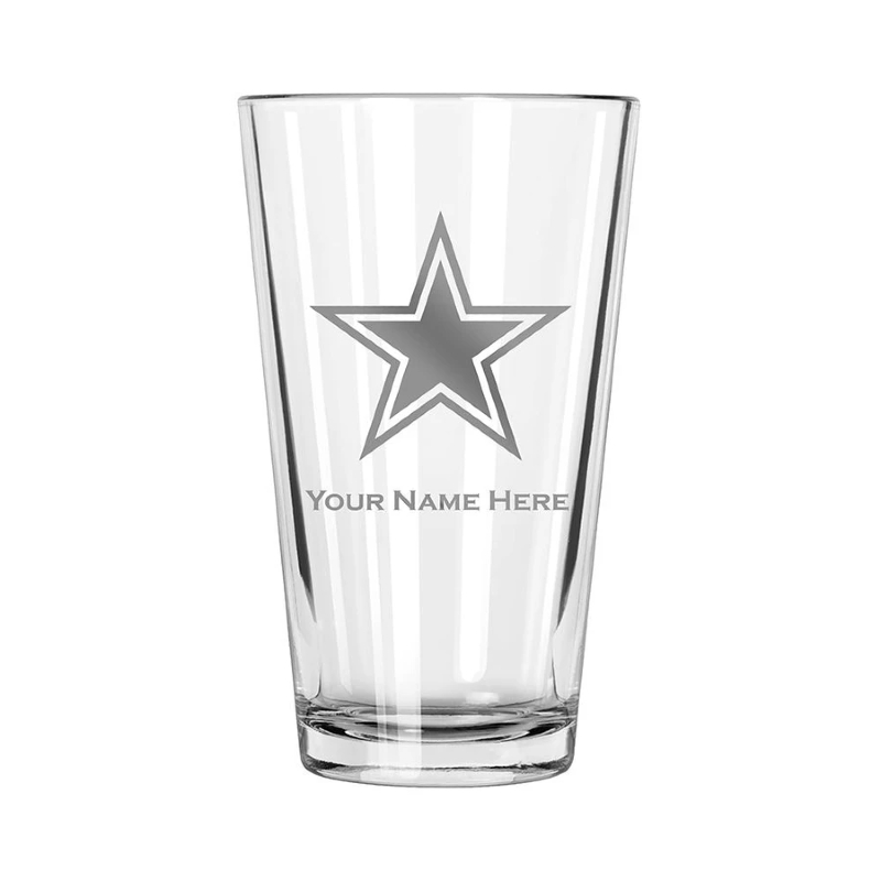 Personalized NFL Football Pint Glass