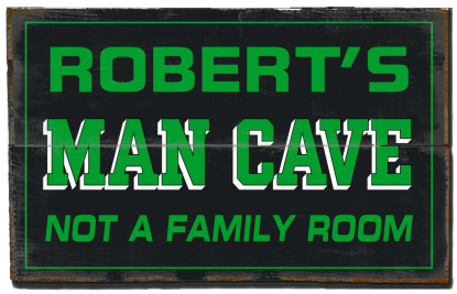 Personalized Man Cave Planked Wood Sign - Man Cave, Not A Family Room  - 2 Planked