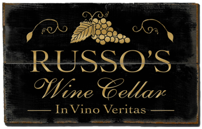 Personalized Wine Cellar Planked Wood Sign  - 2 Planked
