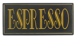 Espresso Framed Sign