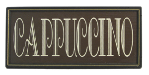 Cappucino Framed Sign