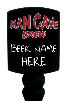 Man Cave Beer Tap Handle - Close Up