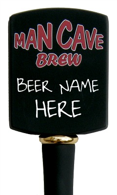 Man Cave Beer Tap Handle - Tall - Close Up