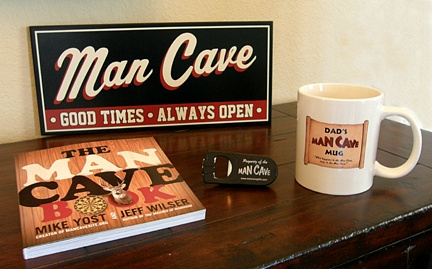 Man Cave Dad Gift Set 1 with Man Cave Good Times Sign