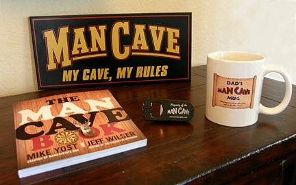Man Cave Dad Gift Set 1 with Man Cave My Cave, My Rules Sign
