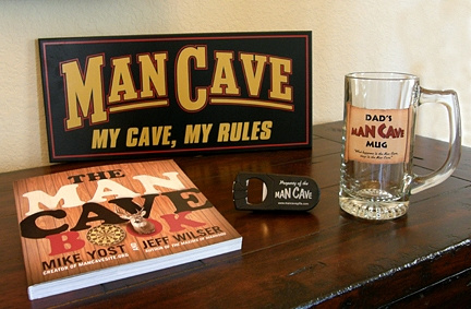 Man Cave Dad Gift Set 2 with Man Cave My Cave, My Rules Sign