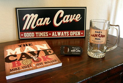 Man Cave Dad Gift Set 2 with Man Cave Good Times Sign