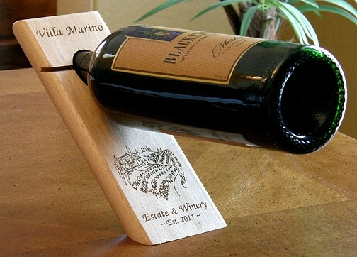 Personalized Tuscan Villa Wine Bottle Stand