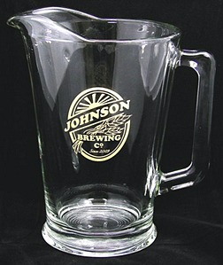 Personalized Brewing Company Glass Pitcher - Gold Version