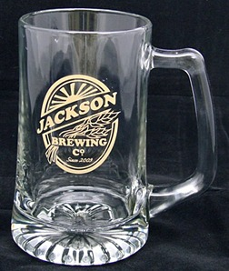Personalized Brewing Company Tankard Mugs - Extra Large - Set of 2 - Gold Version