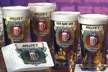 Personalized Neighborhood Pub Pint Glasses