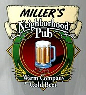 Personalized Neighborhood Pub Glass Pitcher - Close Up