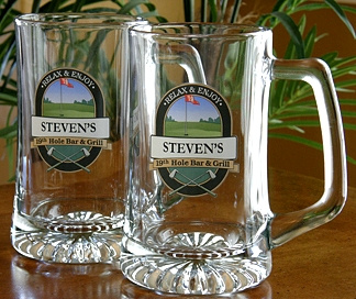 Personalized 19th Hole Bar & Grill Tankard Mugs - Extra Large