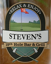 Personalized 19th Hole Bar & Grill Tankard Mugs - Close Up