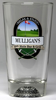 Personalized 19th Hole Bar & Grill Golf Glass Pitcher Personalized 19th Hole Bar & Grill Golf Pint Glasses
