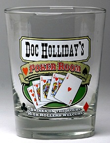 Personalized Poker Room Double Old Fashioned Glasses