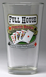 Personalized Poker Room Pint Glasses