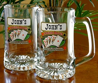 Personalized Poker Room Tankard Mugs - Extra Large