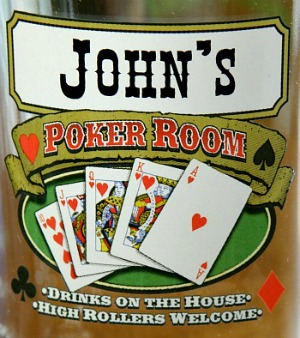 Personalized Poker Room Tankard Mugs - Extra Large - Close Up