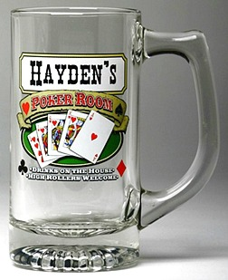 Personalized Poker Room Tankard Mugs