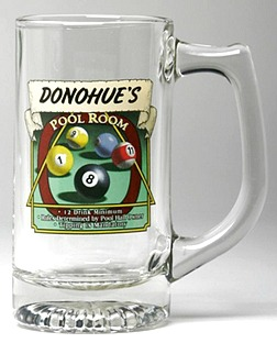 Personalized Pool Room Tankard Mugs