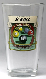 Personalized Pool Room Pint Glasses