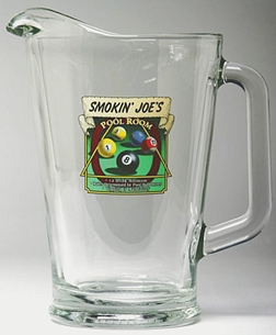 Personalized Pool Room Glass Pitcher