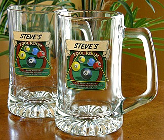 Personalized Pool Room Tankard Mugs - Extra Large
