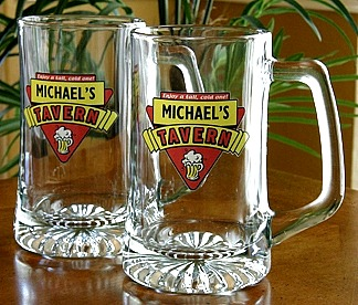 Personalized Red Tavern Tankard Mugs - Extra Large