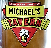 Personalized Red Tavern Tankard Mugs - Extra Large - Close Up