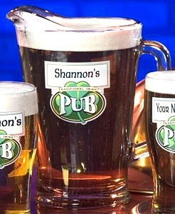 Personalized Traditional Irish Pub Glass Pitcher