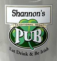 Personalized Traditional Irish Pub Glass Pitcher - Close Up