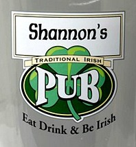 Personalized Traditional Irish Pub Glass Pitcher - Close Up