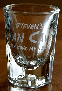 Personalized Man Cave - My Cave, My Rules Shot Glass