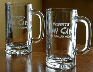 Personalized Man Cave - My Cave, My Rules Tankard Mugs