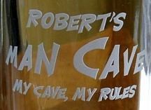 Personalized Man Cave - My Cave, My Rules Tankard Mugs - Close Up