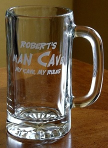 Personalized Man Cave - My Cave, My Rules Tankard Mug