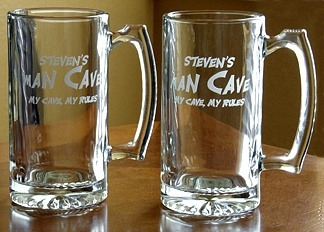 Personalized Man Cave - My Cave, My Rules Tankard Mugs - Extra Large