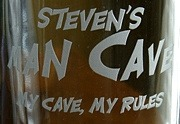 Personalized Man Cave - My Cave, My Rules Tankard Mugs - Extra Large - Close Up