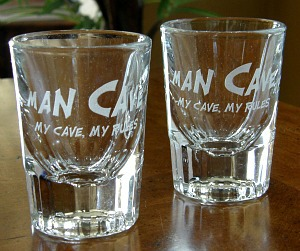 Man Cave My Cave, My Rules Shot Glasses