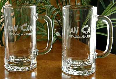 Man Cave My Cave, My Rules Tankard Mugs