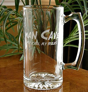 Man Cave My Cave, My Rules Tankard Mug - Extra Large