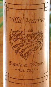 Personalized Tuscan Villa Pepper Mill - Close Up